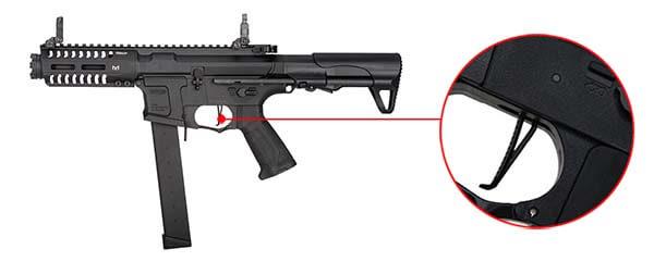 fusil gg cm16 ump arp9 cqb aeg mosfet etu pdw guay guay noir speed trigger airsoft 1 optimized