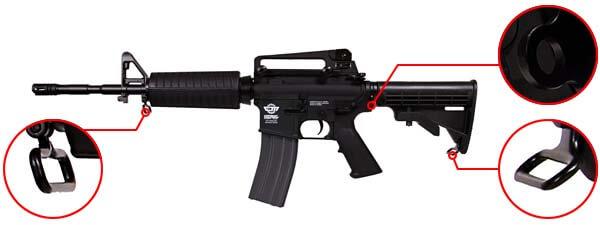 fusil gg m4a1 carbine cm16 aeg electrique guay guay noir attache sangle airsoft 1 optimized