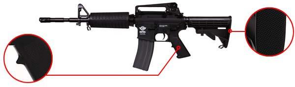 fusil gg m4a1 carbine cm16 aeg electrique guay guay noir confort airsoft 1 optimized