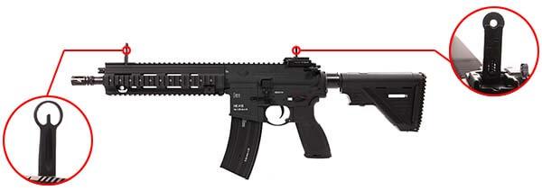 fusil heckler koch hk416 a5 v2 aeg umarex vfc noir 26391x organes de visee airsoft 1 optimized