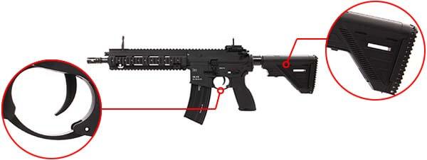 fusil heckler koch hk416 a5 v2 aeg umarex vfc noir 26391x pontet crosse airsoft 1 optimized