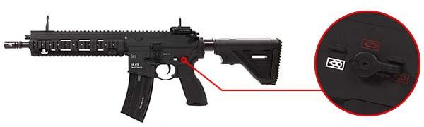 fusil heckler koch hk416 a5 v2 aeg umarex vfc noir 26391x selecteur de tir airsoft 1 optimized