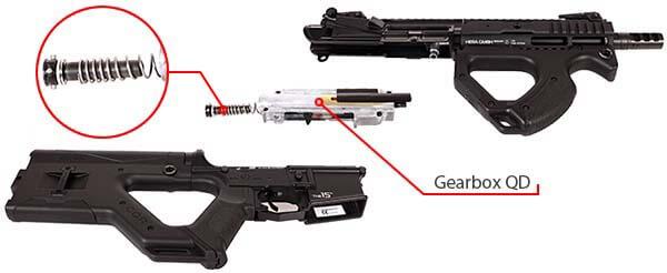 fusil m4 cqr hera arms ics aeg blowback asg noir gearbox qd airsoft 1 optimized