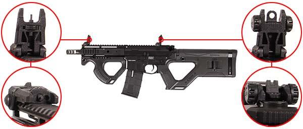 fusil m4 cqr hera arms ics aeg blowback asg noir organes de visee airsoft 1 optimized