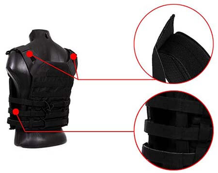 gilet tactique jpc plate carrier miltec noir 13463202 ajustable airsoft 1 optimized