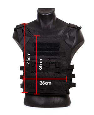 gilet tactique jpc plate carrier miltec noir 13463202 dimensions airsoft 1 optimized