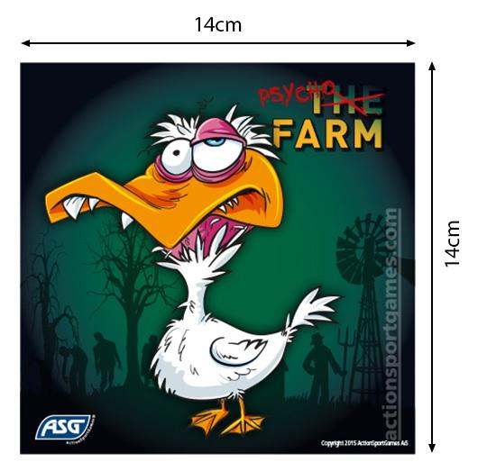 lot 100 cibles psycho farm asg 18190 2