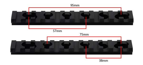 lot 2 rails picatinny pour garde main fusil m4 m4a1 m15 m16 605212 entraxes airsoft 1 optimized