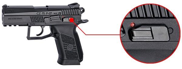 pistolet ceska cz 75 p 07 duty co2 blowback culasse metal 16720 securite airsoft 1 optimized