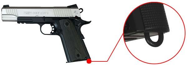 pistolet colt 1911 rail gun stainless dual tone co2 gbb blowback 180531 dragonne airsoft 1 optimized