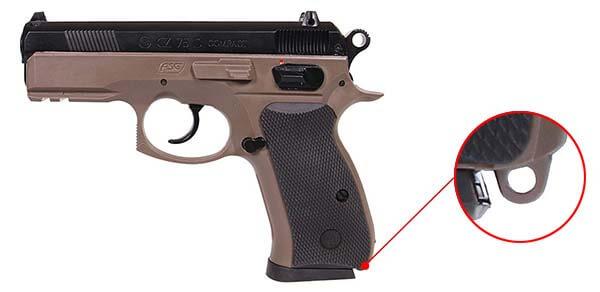 pistolet cz 75d cz75d compact dual tone fde spring 18603 dragonne airsoft 1