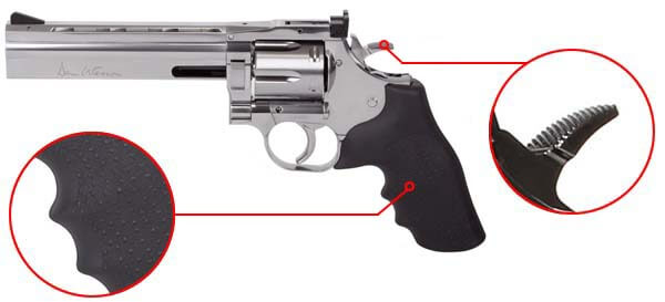 pistolet dan wesson 715 revolver 357 magnum co2 6 pouces 1 joule low power asg 18194 confort airsoft 1 optimized