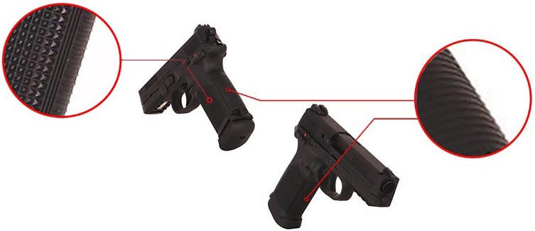 Pistolet FN Herstal FNX45 Civilian Noir Gaz GBB Blowback 200514 2 Optimized