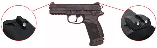 Pistolet FN Herstal FNX45 Civilian Noir Gaz GBB Blowback 200514 7 Optimized