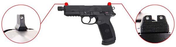 pistolet fn herstal fnx 45 tactical gaz gbb blowback tan-200503 organes de visee airsoft 1 optimized