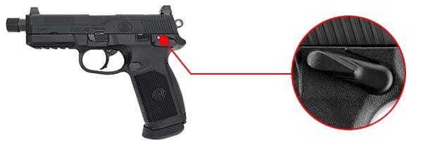 pistolet fn herstal fnx 45 tactical gaz gbb blowback tan-200503 securite airsoft 1 optimized