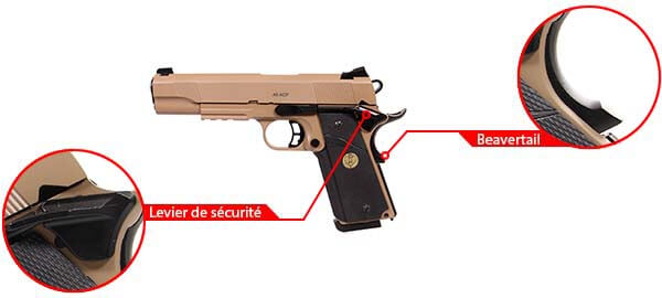 pistolet kjw sts 7 1911 meu gaz gbb metal spartan desert 680504 securite airsoft 1 optimized