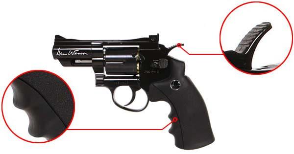 pistolet revolver dan wesson 2 5 noir co2 full metal 17505 confort airsoft 1 optimized