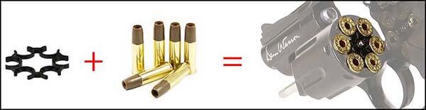 pistolet revolver dan wesson 2 5 noir co2 full metal 17505 moon clip airsoft 1 optimized