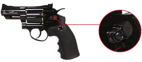 pistolet revolver dan wesson 2 5 noir co2 full metal 17505 securite airsoft 1 optimized