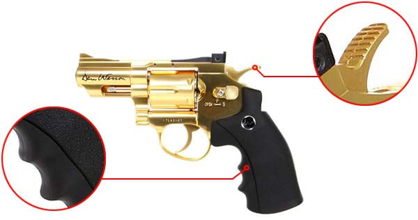 pistolet revolver dan wesson 2 5 pouces gold or full metal 17373 confort airsoft 1 optimized
