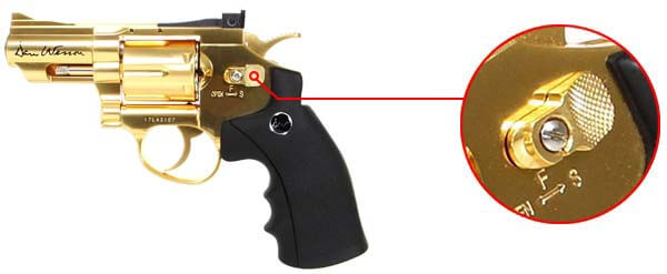 pistolet revolver dan wesson 2 5 pouces gold or full metal 17373 securite airsoft 1 optimized