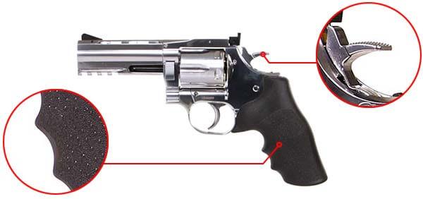 pistolet revolver dan wesson 715 357 magnum 4 pouces co2 silver 18610 confort airsoft 1 optimized