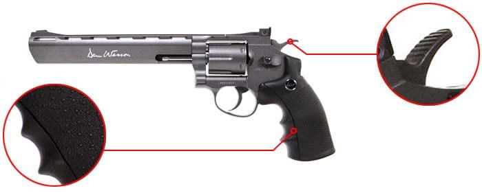 pistolet revolver dan wesson 8 noir co2 full metal 17477 confort airsoft 1 optimized