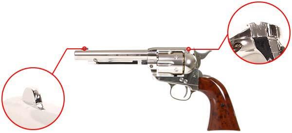 pistolet revolver legends western cowboy 45 co2 5 pouces umarex 26329 organes de visee airsoft 1 optimized