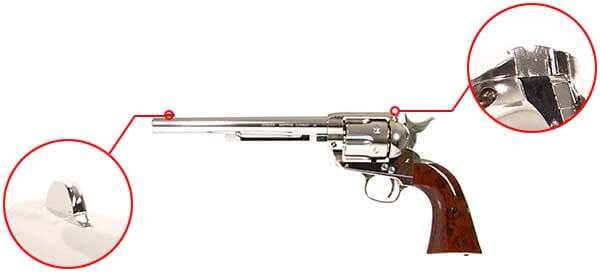 pistolet revolver legends western cowboy 45 co2 7 pouces umarex 26346 organes de visee airsoft 1 optimized
