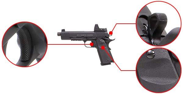pistolet secutor 1911 rudis vi magna co2 tan sar0028 confort airsoft 1 optimized