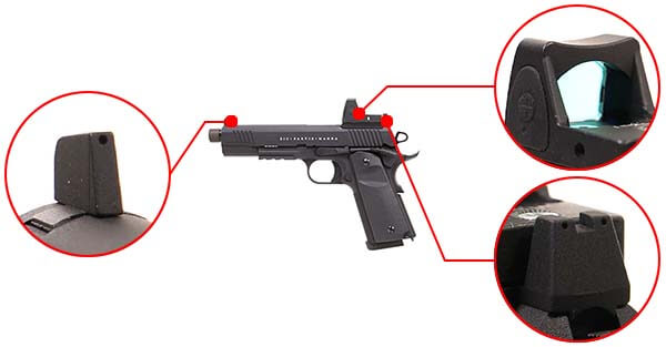 pistolet secutor 1911 rudis vi magna co2 tan sar0028 organes de visee airsoft 1 optimized