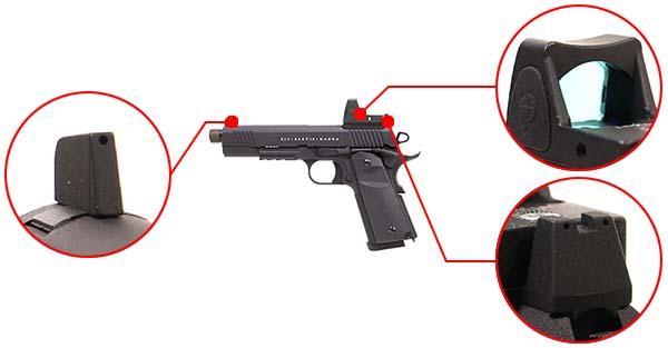 pistolet secutor 1911 rudis xii magna co2 noir sar0027 organes de visee airsoft 1