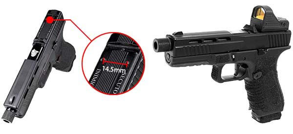 pistolet secutor g17 s17 gladius navy grey gbb blowback co2 gaz sag0003 red dot airsoft 1 optimized