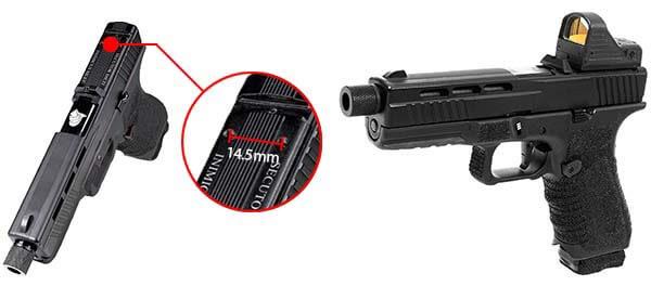 pistolet secutor g17 s17 gladius noir gbb blowback co2 gaz sag0002 red dot airsoft 1 optimized