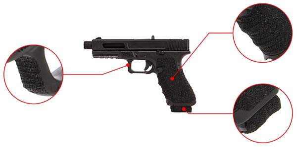 pistolet secutor gladius 17 acta non verba co2 gbb blowback noir confort 1 optimized