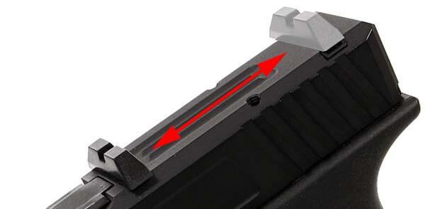 pistolet secutor gladius 17 acta non verba co2 gbb blowback noir organes de visee 1 optimized