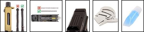 pistolet secutor gladius 17 acta non verba co2 gbb blowback noir pack 1 optimized