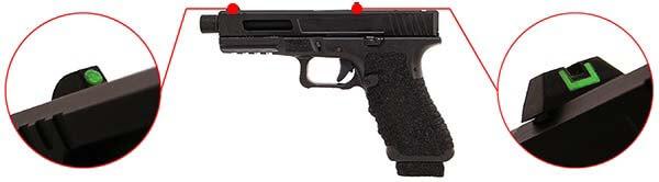 pistolet secutor gladius 17 acta non verba co2 gbb blowback stone organes de visee phosphorescents 1 optimized