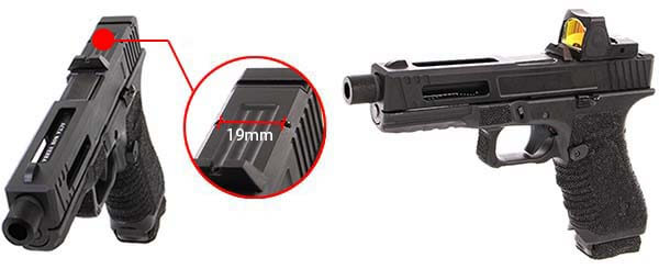 pistolet secutor gladius 17 acta non verba co2 gbb blowback stone red dot 1 optimized