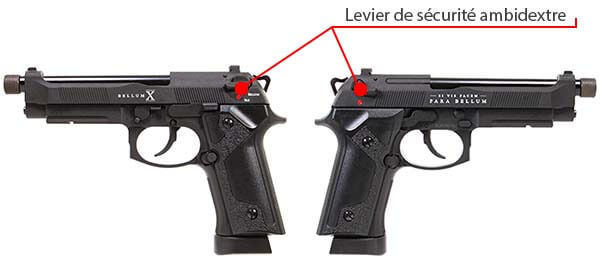 pistolet secutor m92 bellum ii co2 gbb grey sab0002 levier de securite ambidextre 1 optimized