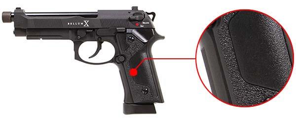 pistolet secutor m92 bellum x co2 gbb noir sab0001 ergonomie 1 optimized