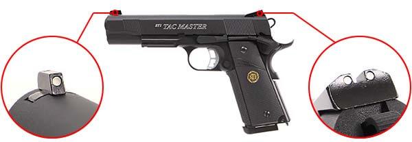 pistolet sti tac master 1911 meu kjw kp07 gaz metal blowback 17181 organes de visee airsoft 1 optimized
