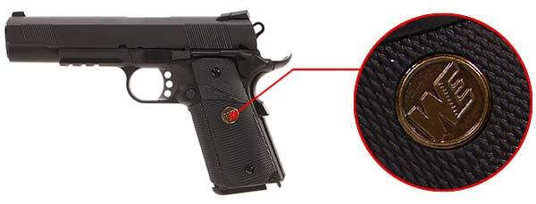 pistolet we colt 1911 meu gbb gaz blowback full metal noir 500541 design airsoft 1 optimized