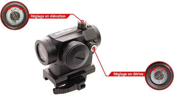 point rouge red dot qd micro t1 montage haut duel code tan reglage derive elevation  airsoft 1 optimized