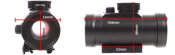 point rouge red dot tube universel picatinny abs swiss arms 263860 dimensions airsoft 1 optimized
