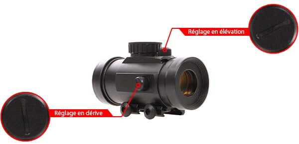 point rouge red dot tube universel picatinny abs swiss arms 263860 reglage derive elevation airsoft 1 optimized