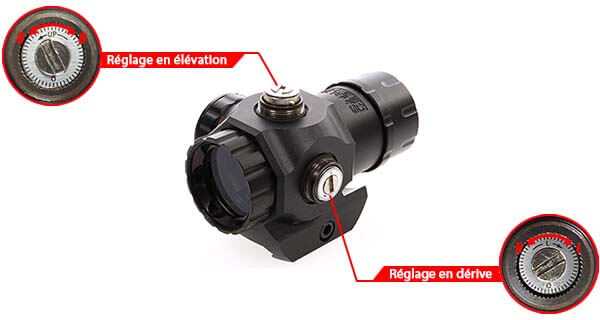 red dot sight tactical compact visee point rouge verte 25mm rail picatinny 263929 reglage airsoft 1 optimized
