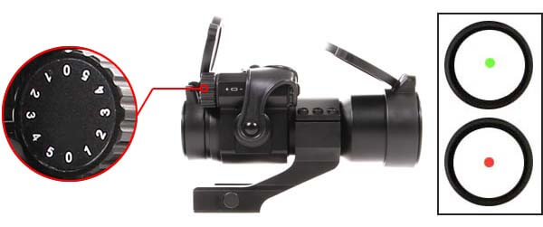 red dot tube 1x30 point rouge type aimpoint comp m2 m68 cco rail cantilever luminosite airsoft 1 optimized