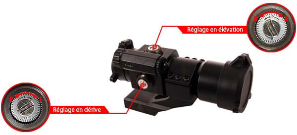 red dot tube 1x30 point rouge type aimpoint comp m2 m68 cco rail cantilever reglages airsoft 1 optimized